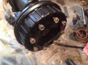 Brake drum on. Finished